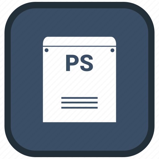extension, file, format, ps icon