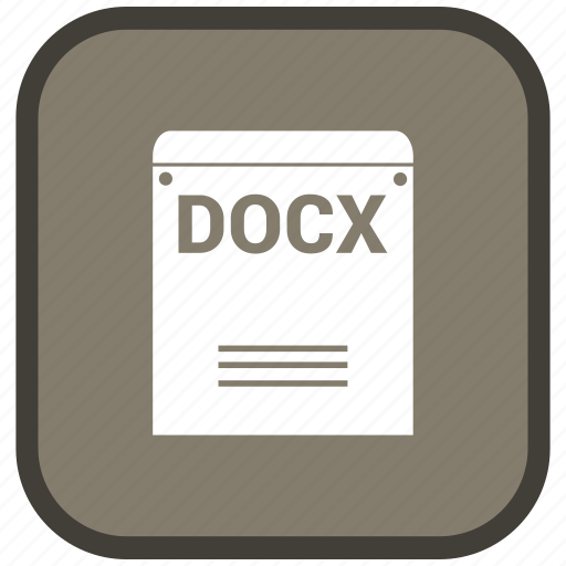 docx, extension, file, format icon