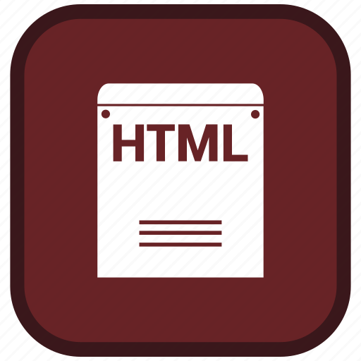 extension, file, format, html icon