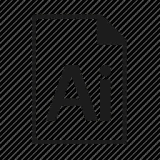 ai, file, format, illustrator icon