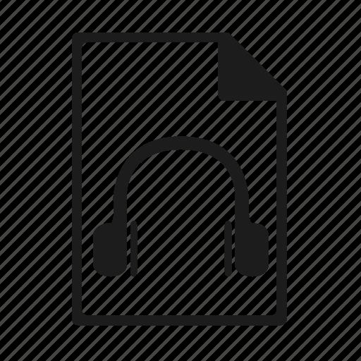 file, format, mp3 icon