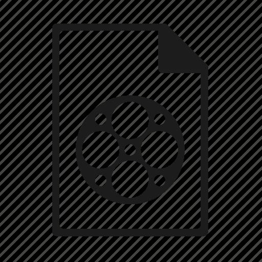 file, format, mp4, mpeg icon