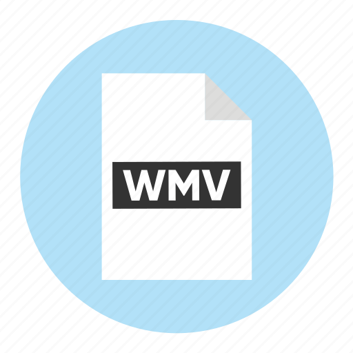document, extension, file, filetype, format, type, wmv icon
