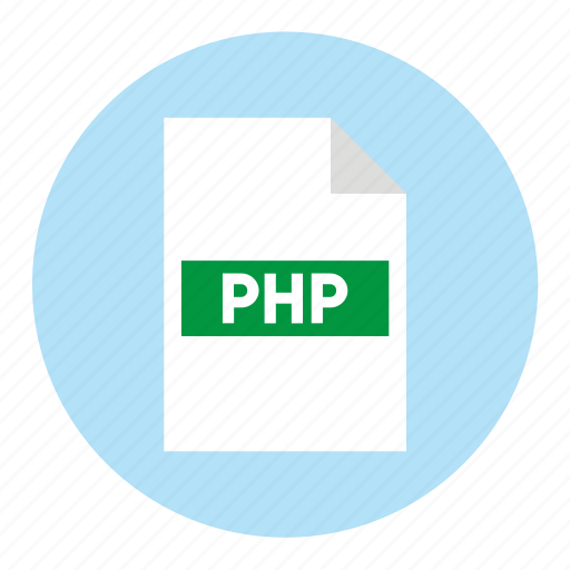 document, extension, file, filetype, format, php, type icon