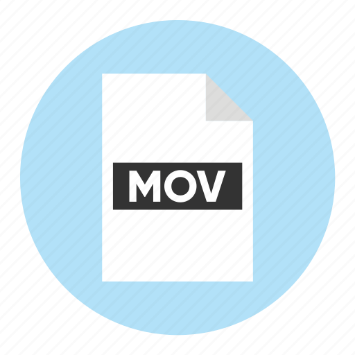 Document, extension, file, filetype, format, mov, movie icon - Download on Iconfinder