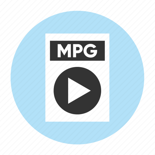 document, extension, file, filetype, format, mpg, type icon