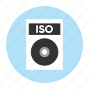 document, extension, file, filetype, format, iso, type icon