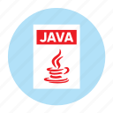 document, extension, file, filetype, format, java, type
