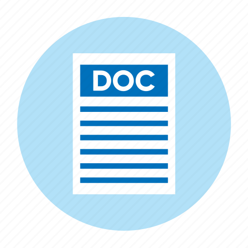 Doc, document, extension, file, filetype, format, type icon - Download on Iconfinder