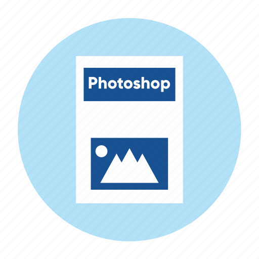 adobe, document, extension, file, format, photoshop, type icon