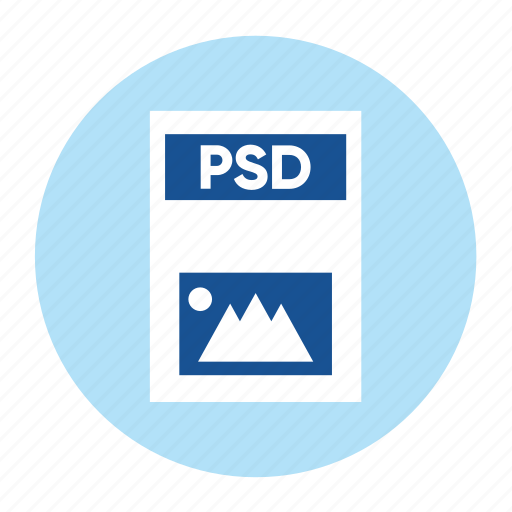 document, extension, file, filetype, format, photoshop, psd icon
