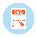 document, extension, file, filetype, format, svg file, type icon