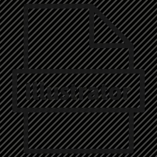adobe, document, extension, file, filetype, format, illustrator icon
