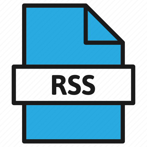 document, extension, file, filetype, format, rss, type icon
