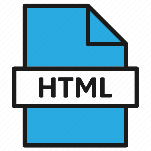 document, extension, file, filetype, format, html, type icon