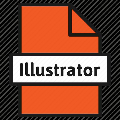 adobe, document, extension, file, format, illustrator, type icon
