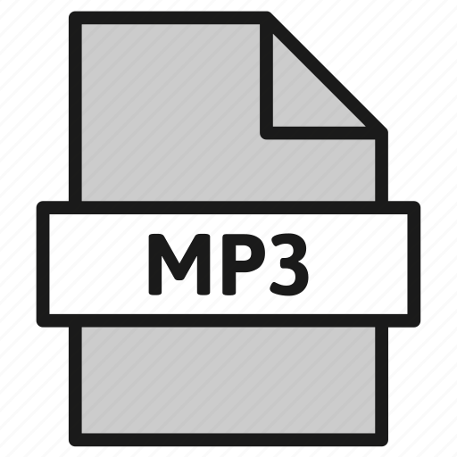 document, extension, file, filetype, format, mp3, type icon