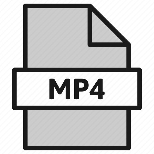Document, extension, file, filetype, format, mp4, type icon - Download on Iconfinder