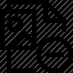 document, file, minus, photo, picture icon