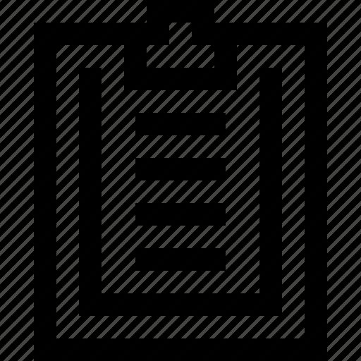 clipboard, note, paper, write icon