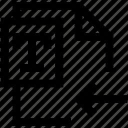 document, enter, file, left, text, write icon