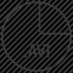 avi, extension, file, format, multimedia icon