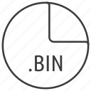 bin, extension, file, format icon