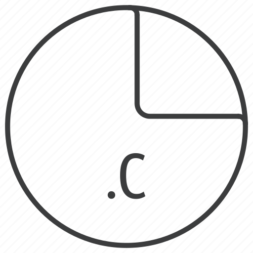 c, extension, file, format, language, programming icon