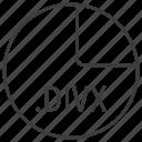 divx, extension, file, format icon
