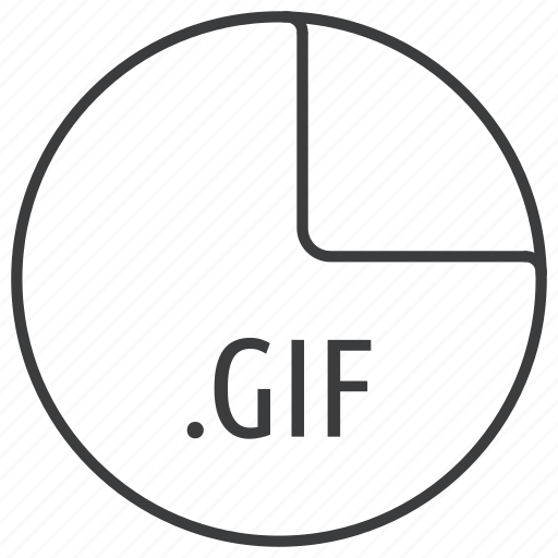 extension, file, format, gif, image icon