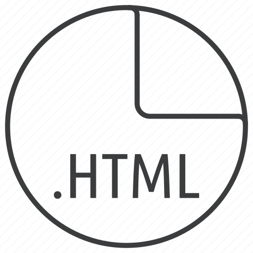 extension, file, format, html, hypertext icon