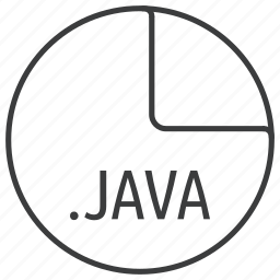 extension, file, format, java, language, programming icon