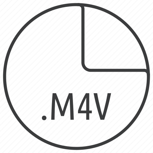 extension, file, format, m4v icon