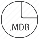 extension, file, format, mdb icon