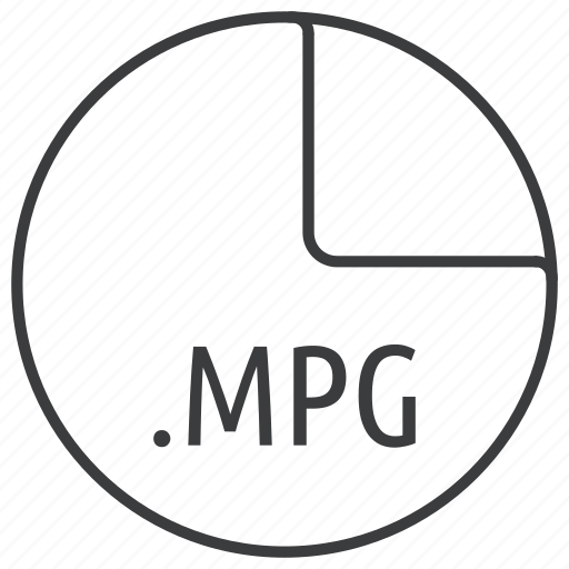 extension, file, format, mpg, multimedia, video icon