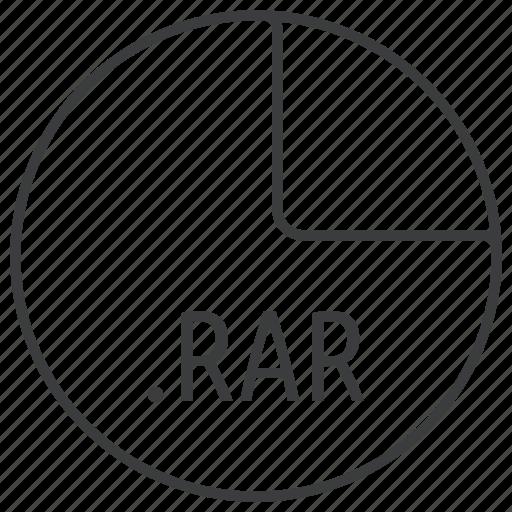 compression, extension, file, format, rar icon