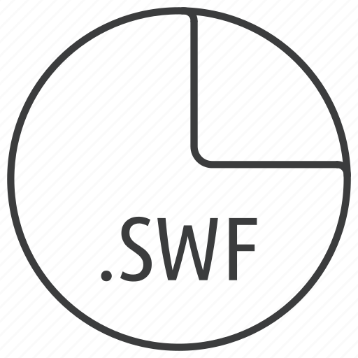 extension, file, format, swf icon