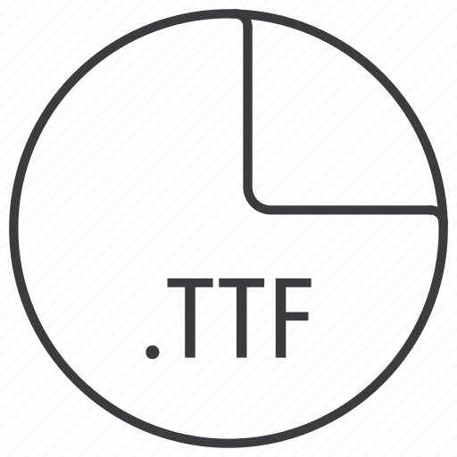 extension, file, format, ttf icon