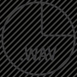 audio, extension, file, format, multimedia, wav icon
