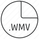 extension, file, format, multimedia, wmv icon