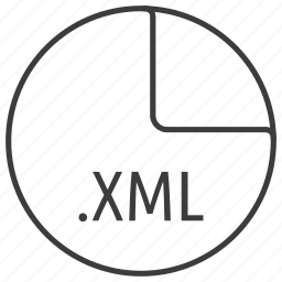 extension, file, format, language, markup, xml icon