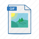 picture, format, photo, image, gif, file, document icon