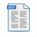 doc, document, file, format, office, word icon