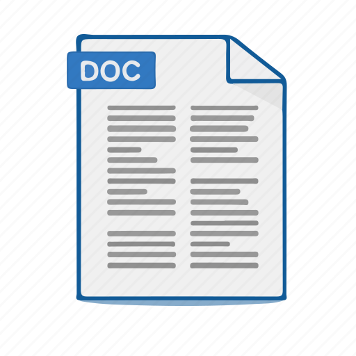 Doc, document, file, format, office, word icon - Download on Iconfinder