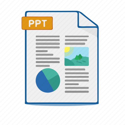 document, file, format, powerpoint icon