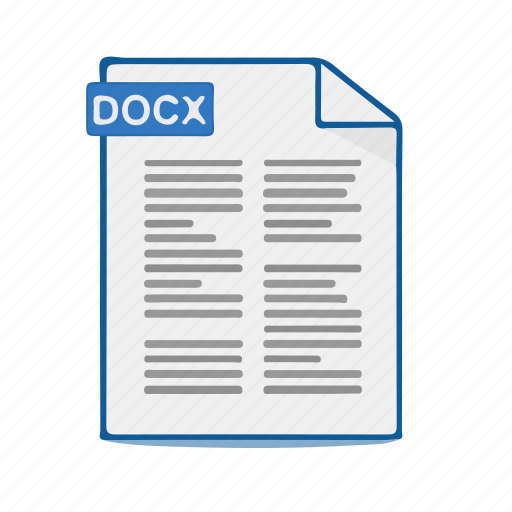 Docx, document, word, file, format icon