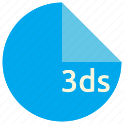 3ds, extension, file, format icon