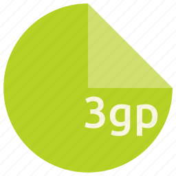 3gp, extension, file, format icon
