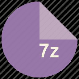 7z, compression, file, format, technique icon