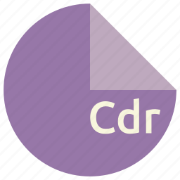cdr, extension, file, format icon